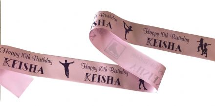 ICE SKATING PERSONALISED RIBBON